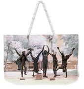 Olympic Wannabes Sculpture By Glenna Goodacre Near Infrared Weekender Tote Bag