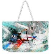 Olympics Canoe Slalom 02 Weekender Tote Bag by Miki De Goodaboom