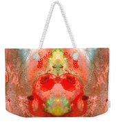 Om - Red Meditation - Abstract Art By Sharon Cummings Weekender Tote Bag