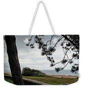 Omaha Beach Under Trees Weekender Tote Bag