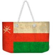 Oman Flag Vintage Distressed Finish Weekender Tote Bag