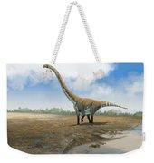 Omeisaurus Tianfuensis, An Euhelopus Weekender Tote Bag by Roman Garcia Mora