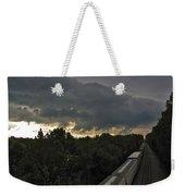 Ominous Skies Over Tracks Weekender Tote Bag