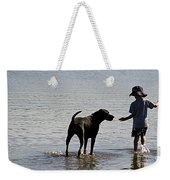 On A Beach 2 Weekender Tote Bag