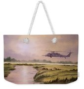On A Mission - Hh60g Helicopter Weekender Tote Bag
