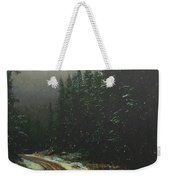 On A Snowy Evening Weekender Tote Bag
