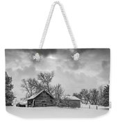 On A Winter Day Monochrome Weekender Tote Bag