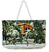 On A Winter Day Weekender Tote Bag by Steve Harrington