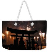 On Dad's Shoulders Weekender Tote Bag