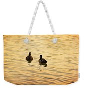 On Golden Pond Ducks Weekender Tote Bag