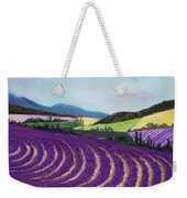On Lavender Trail Weekender Tote Bag