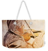 On Stage The Violinist Weekender Tote Bag