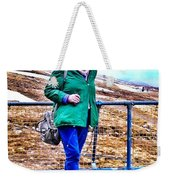 On The Summit Of Ben Nevis Weekender Tote Bag