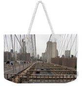 On The Brooklyn Bridge Weekender Tote Bag