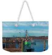 On The Dockside Bristol Rhode Island Weekender Tote Bag