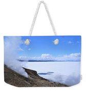 On The Edge Of Lake Yellowstone Weekender Tote Bag