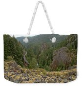 On The Edge Of The Cheakamus River Gorge Weekender Tote Bag