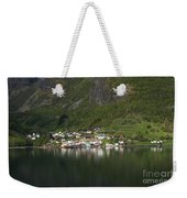 On The Edge Of The Fjord Weekender Tote Bag