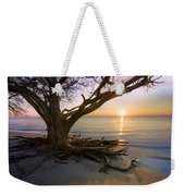 On The Edge Of The Surf Weekender Tote Bag