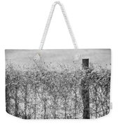 On The Fence Bw Weekender Tote Bag