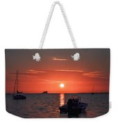 On The Gulf At Sunset Weekender Tote Bag