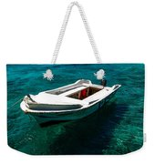 On The Peaceful Waters. Maldives Weekender Tote Bag