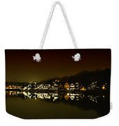 On The River At Night -  Boathouse Row Weekender Tote Bag