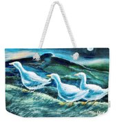 On The Run By Moonlight Weekender Tote Bag