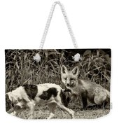 On The Scent Sepia Weekender Tote Bag by Steve Harrington