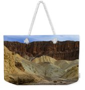 On The Way To Sunday Services Red Cathedral In Death Valley National Park Weekender Tote Bag