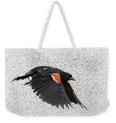 On The Wing - Red-winged Blackbird Weekender Tote Bag