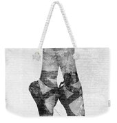 On Tippie Toes In Black And White Weekender Tote Bag