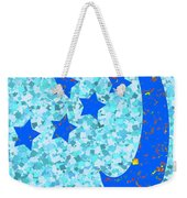 Once In A Blue Moon Also Got 5 Stars Signature Art  Navinjoshi Artist Created Images Textures Patter Weekender Tote Bag
