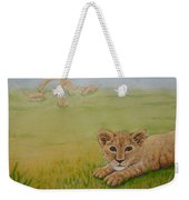 Once There Was A Lion Named Leo Weekender Tote Bag