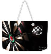 One Arrow In The Centre Of A Dart Board Weekender Tote Bag