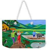 One Beautiful Morning In The Farm Weekender Tote Bag by Cyril Maza