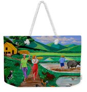 One Beautiful Morning In The Farm Weekender Tote Bag