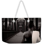 One Boy One Pigeon One Bridge Weekender Tote Bag