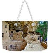 One End Of Spruce Tree House On Chapin Mesa In Mesa Verde National Park-colorado Weekender Tote Bag