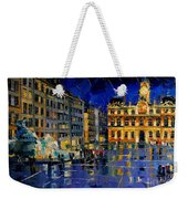 One Evening In Terreaux Square Lyon Weekender Tote Bag