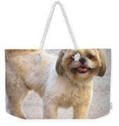 One Happy Little Dog Weekender Tote Bag