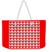 One Hundred Hearts Weekender Tote Bag