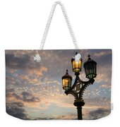 One Light Out - Westminster Bridge Streetlights - River Thames In London Uk Weekender Tote Bag