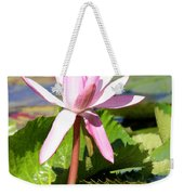One Pink Water Lily Weekender Tote Bag
