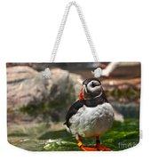 One Puffin Bird Art Prints Weekender Tote Bag