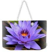 One Purple Water Lily With Vignette Weekender Tote Bag