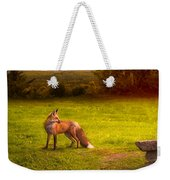 One Red Fox Weekender Tote Bag by Bob Orsillo