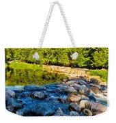 One River - Three Flows Weekender Tote Bag