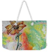 One Solitary Flower Weekender Tote Bag by Eloise Schneider