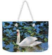 One Swan In The Lilies Weekender Tote Bag